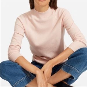 Everlane Cashmere mock neck pink Sweater size small blush pink